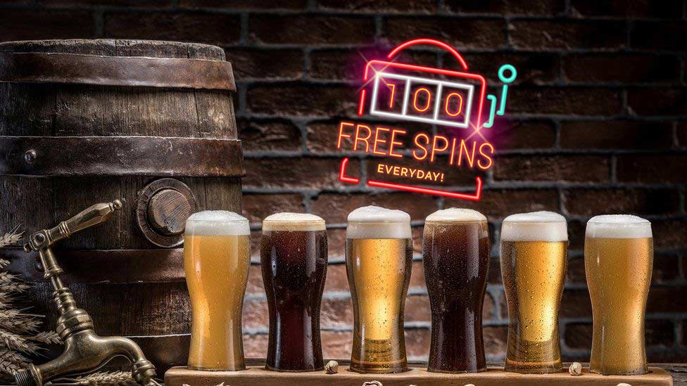 play free spins when you're at the bar